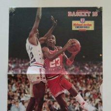 Coleccionismo deportivo: POSTER MICHAEL AIR JORDAN CHICAGO BULLS ALL STAR 1987 REVISTA BASKET16 NBA BALONCESTO. Lote 85289072
