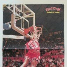 Coleccionismo deportivo: POSTER MICHAEL AIR JORDAN 1987 NBA CHICAGO BULLS SLAM DUNK BALONCESTO GIGANTES. Lote 85289300