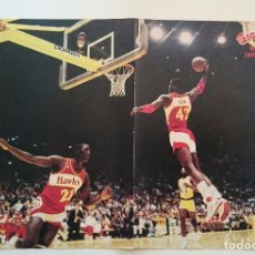 Coleccionismo deportivo: POSTER KEVIN WILLIS GIGANTES NBA ATLANTA HAWKS. Lote 85289444