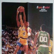 Coleccionismo deportivo: POSTER LOS ANGELES LAKERS BOSTON CELTICS NBA SUPERBASKET. Lote 85289576