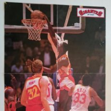 Coleccionismo deportivo: POSTER DOMINIQUE WILKINS ATLANTA HAWKS NBA BALONCESTO. Lote 85290004