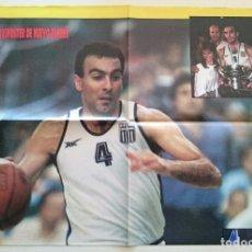 Coleccionismo deportivo: POSTER NICOS GALLIS BALONCESTO 1987 EUROBASKET DE GRECIA HELLAS SUPERBASKET. Lote 85291248
