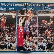 Coleccionismo deportivo: POSTER SLAM DUNK 1990 NBA GIGANTES DEL BASKET. Lote 85295476