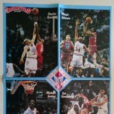 Coleccionismo deportivo: POSTER ALL STAR JORDAN MAGIC JOHNSON NBA AÑOS 90 GIGANTES. Lote 85295636