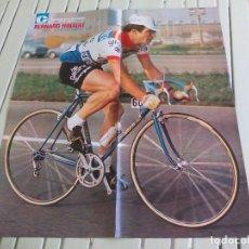 Collectionnisme sportif: POSTER DE CICLISMO AÑOS 70.CICLISTA BERNARD HINAULT 60X50CM DE LA REVISTA MIROIR DU CYCLISME.CYCLING. Lote 85769136