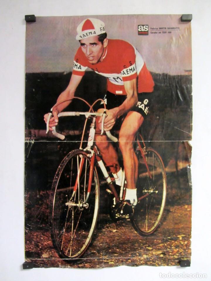FEDERICO MARTIN BAHAMONTES POSTER ORIGINAL DE 51 X 33 CMS GANADOR DEL TOUR 1959 AS CICLISMO (Coleccionismo Deportivo - Carteles otros Deportes)