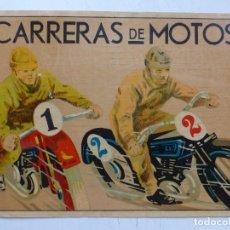 Coleccionismo deportivo: PRECIOSA Y ANTIGUA ETIQUETA CARRERAS DE MOTOS. Lote 164505166