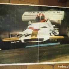Coleccionismo deportivo: CARTEL AUTOMOVILISMO YARDLEY TEAM BRM. FORMULA 1 AUTO VIRAGE MEDIDAS 78 X 52 CM. Lote 88762024