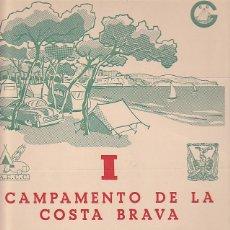 Coleccionismo deportivo: CARTEL I CAMPAMENTO DE LA COSTA BRAVA JUNIO 1960. Lote 88987108