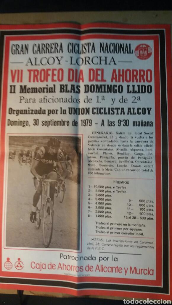 ALCOY, CARTEL GRAN CARRERA CICLISTA NACIONAL. 1979 (Coleccionismo Deportivo - Carteles otros Deportes)