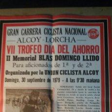 Coleccionismo deportivo: ALCOY, CARTEL GRAN CARRERA CICLISTA NACIONAL. 1979. Lote 89520542