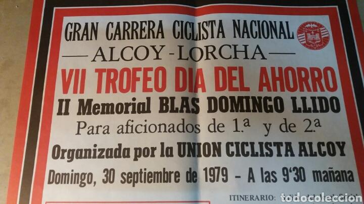 Coleccionismo deportivo: Alcoy, cartel gran carrera ciclista Nacional. 1979 - Foto 2 - 89520542