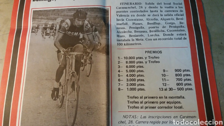 Coleccionismo deportivo: Alcoy, cartel gran carrera ciclista Nacional. 1979 - Foto 3 - 89520542