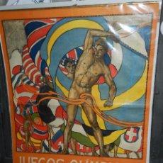 Coleccionismo deportivo: CARTEL ORIGINAL - JUEGOS OLIMPICOS STOCKHOLMO 1912 , ILUSTRADO OLLE M JORTZBERG 1911. Lote 89590732
