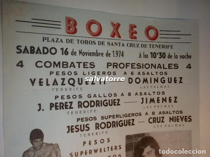 Coleccionismo deportivo: COMBATE BOXEO PLAZA TOROS TENERIFE.FRANCIS. DUM DUM PACHECO.CAMPEONATO ESPAÑA.1974 - Foto 2 - 90921440