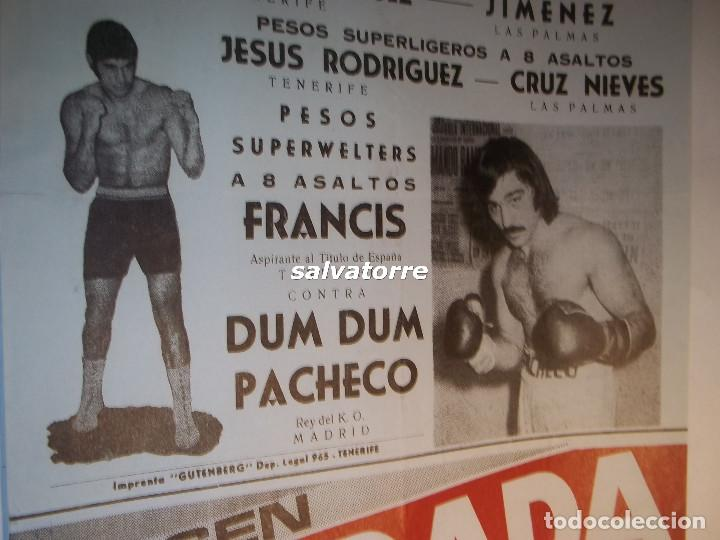 Coleccionismo deportivo: COMBATE BOXEO PLAZA TOROS TENERIFE.FRANCIS. DUM DUM PACHECO.CAMPEONATO ESPAÑA.1974 - Foto 3 - 90921440
