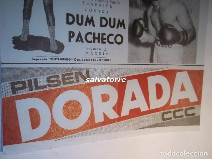 Coleccionismo deportivo: COMBATE BOXEO PLAZA TOROS TENERIFE.FRANCIS. DUM DUM PACHECO.CAMPEONATO ESPAÑA.1974 - Foto 4 - 90921440