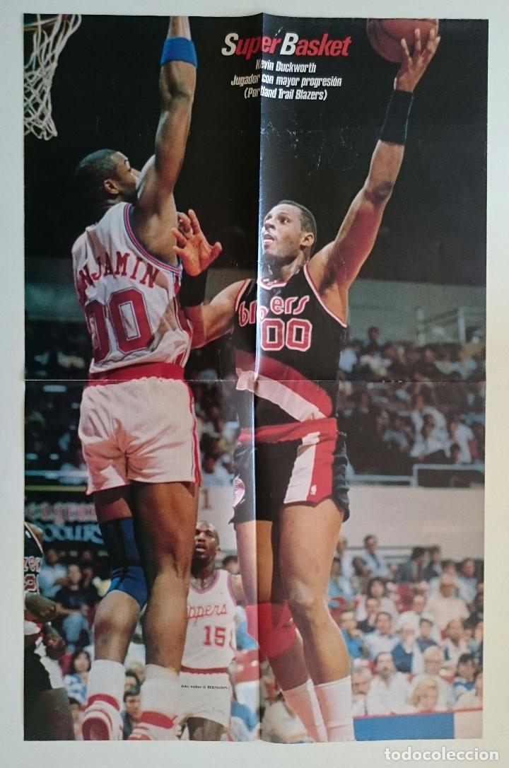 POSTER NBA AÑOS 80 KEVIN DUCKWORTH PORTLAND TRAIL BLAZERS (Coleccionismo Deportivo - Carteles otros Deportes)