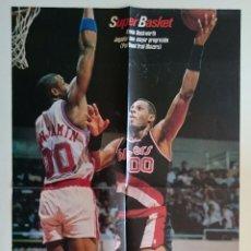 Coleccionismo deportivo: POSTER NBA AÑOS 80 KEVIN DUCKWORTH PORTLAND TRAIL BLAZERS. Lote 91557265