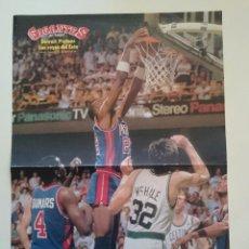 Coleccionismo deportivo: POSTER NBA DETROIT PISTONS - BOSTON CELTICS REVISTA GIGANTES DEL BALONCESTO. Lote 91582095