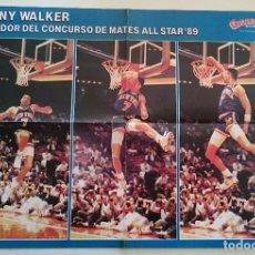 Coleccionismo deportivo: POSTER NBA KENNY SKY WALKER SLAM DUNK GIGANTES DEL BALONCESTO. Lote 91582135