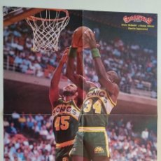 Coleccionismo deportivo: POSTER NBA REVISTA GIGANTES DEL BALONCESTO SEATLE SUPERSONICS MCDANIEL. Lote 91582550