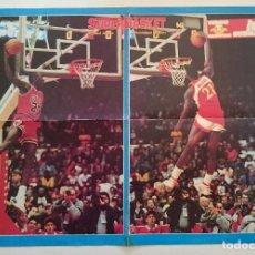 Coleccionismo deportivo: POSTER NBA REVISTA SUPERBASKET ALL STAR 1988 SLAM DUNK MICHAEL JORDAN DOMINIQUE WILKINS. Lote 91582650