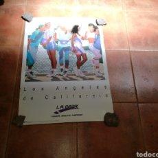 Coleccionismo deportivo: RARO CARTEL PUBLICIDAD DE L. A. GEAR. AÑOS 90. ORIGINAL. MIDE 68 X 49 CENTÍMETROS. Lote 91718285