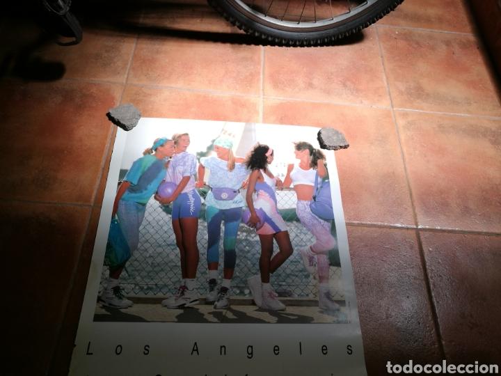 Coleccionismo deportivo: Raro cartel publicidad de L. A. Gear. Años 90. Original. Mide 68 x 49 centímetros - Foto 2 - 91718285