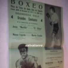 Coleccionismo deportivo: BOXEO PLAZA TOROS SANTA CRUZ TENERIFE.SOMBRITA.CAPELLA.MARICHAL.REJON.FAJARDO.CENDON.1973. Lote 92162200