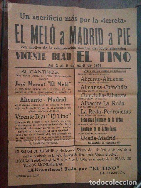 CARTEL DE 1961 DE LA MARCHA A PIE DE EL MELO (Coleccionismo Deportivo - Carteles otros Deportes)