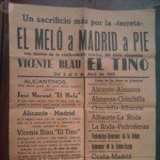 Coleccionismo deportivo: CARTEL DE 1961 DE LA MARCHA A PIE DE EL MELO. Lote 92269430