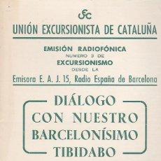 Coleccionismo deportivo: CARTEL UNION EXCURSIONISTA DE CATALUÑA 30 NOVIEMBRE 1953. Lote 93021845
