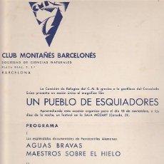 Coleccionismo deportivo: CARTEL CLUB MONTAÑES BARCELONES . Lote 93240790