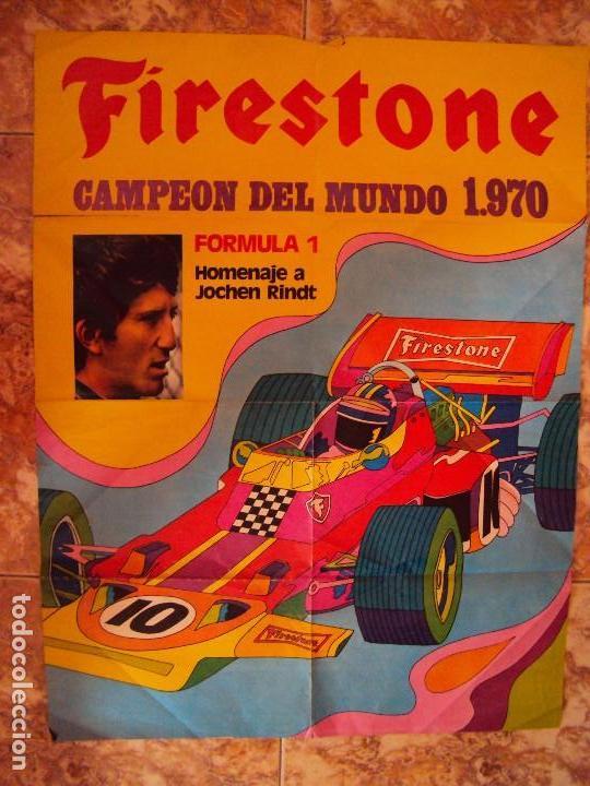 (F-170745)CARTEL ORIGINAL DEL MALOGRADO PILOTO DE FORMULA 1 JOCHEN RINDT (Coleccionismo Deportivo - Carteles otros Deportes)