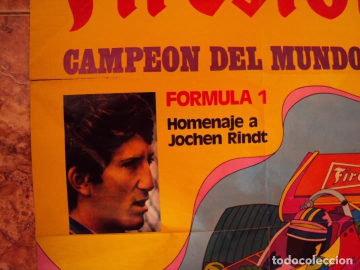Coleccionismo deportivo: (F-170745)CARTEL ORIGINAL DEL MALOGRADO PILOTO DE FORMULA 1 JOCHEN RINDT - Foto 2 - 93859355