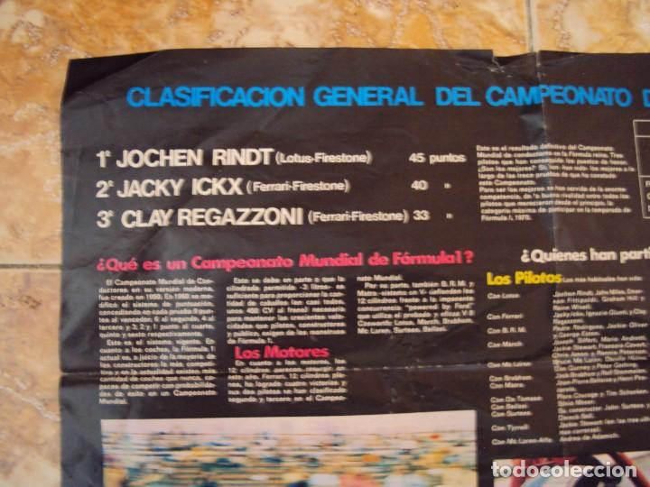 Coleccionismo deportivo: (F-170745)CARTEL ORIGINAL DEL MALOGRADO PILOTO DE FORMULA 1 JOCHEN RINDT - Foto 6 - 93859355