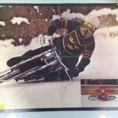 Coleccionismo deportivo: POSTER, MOTOS, CARRERAS SOBRE HIELO, LA MOTO, 57X42. Lote 95116051
