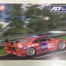 Coleccionismo deportivo: POSTER, FERRARI F40 , FLY CAR MODEL, MAS SLOT, 59X39. Lote 95157963