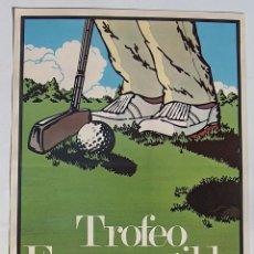 Coleccionismo deportivo: CARTEL TROFEO ERMENEGILDO ZEGNA, CAMPO GOLF EL SALER, VALENCIA, 1984 . Lote 95841243