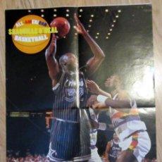 Coleccionismo deportivo: POSTER DOBLE BALONCESTO BASKET NBA SHAQUILLE O´NEAL CHARLES BARKLEY BASKETBALL. Lote 96552787