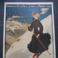 Coleccionismo deportivo: CARTEL DE ESQUI CHAMONIX MONT - BLANC. Lote 98078307