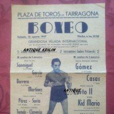 Coleccionismo deportivo: TARRAGONA 1947 .- PLAZA DE TOROS GRAN VELADA DE BOXEO INTERNACIONAL . Lote 98136651