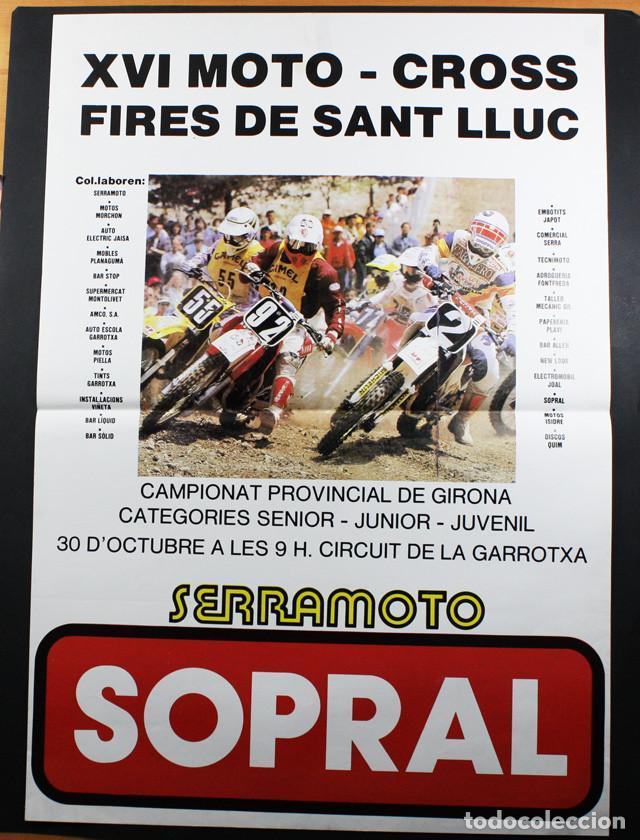 CARTEL POSTER XVI MOTO CROSS FIRES DE SANT LLUC OLOT AÑOS 80 63 X 43 CM, CROS MOTOCROSS SOPRAL (Coleccionismo Deportivo - Carteles otros Deportes)