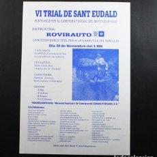 Coleccionismo deportivo: CARTEL POSTER VI TRIAL DE SANT EUDALD, OLOT 1986 41 X 29,50 CM. Lote 99135931