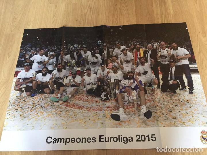 POSTERS REAL MADRID BALONCESTO CAMPEONES (Coleccionismo Deportivo - Carteles otros Deportes)