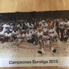 Coleccionismo deportivo: POSTERS REAL MADRID BALONCESTO CAMPEONES. Lote 194531687