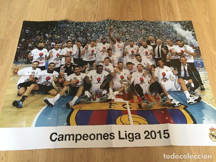 Coleccionismo deportivo: POSTERS REAL MADRID BALONCESTO CAMPEONES - Foto 2 - 194531687
