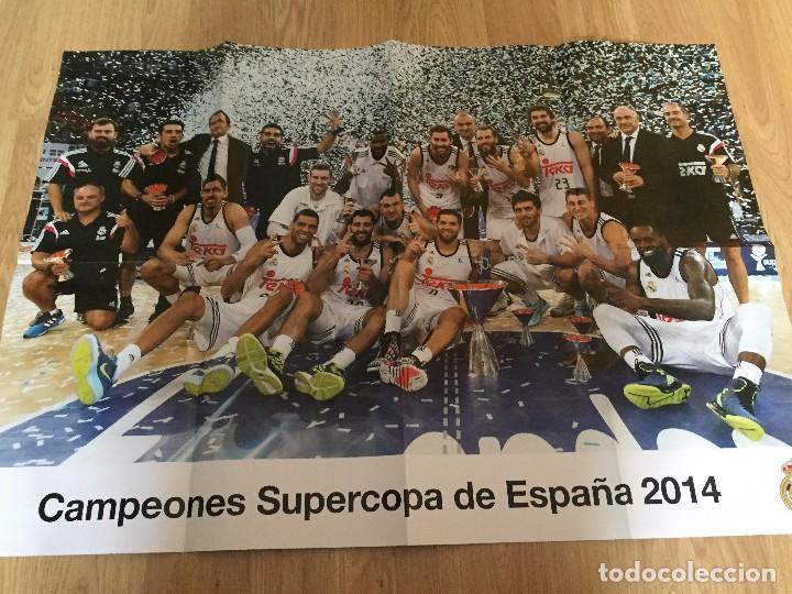 Coleccionismo deportivo: POSTERS REAL MADRID BALONCESTO CAMPEONES - Foto 3 - 194531687