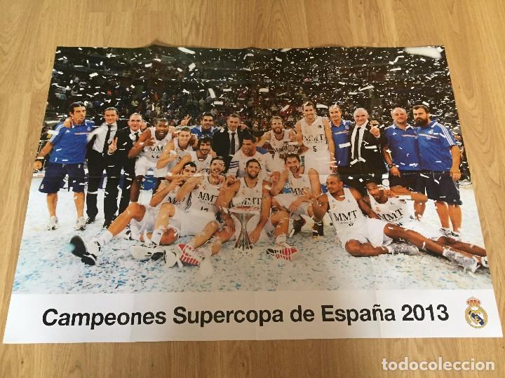 Coleccionismo deportivo: POSTERS REAL MADRID BALONCESTO CAMPEONES - Foto 6 - 194531687